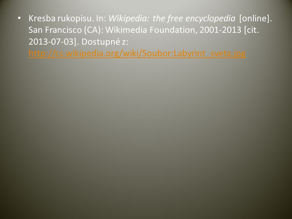 Kresba rukopisu. In: Wikipedia: the free encyclopedia [online]